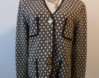 Vintage Steve Fabrikant Cardigan Sweater Jacket