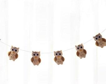 Owl Garland - Woodland Owl Nursery Banner