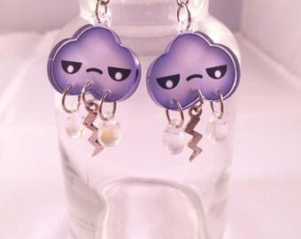 Angry Cloud Earrings