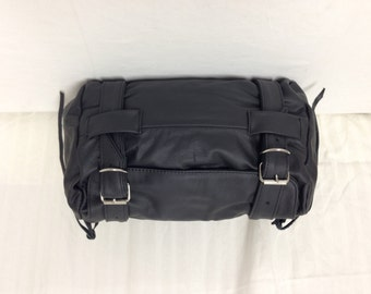 Motorcycle Handle Bag, black,Leather, bike bag