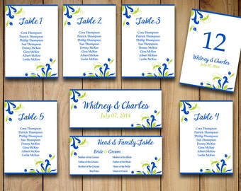 """Printable Wedding Seating Chart Template 