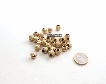 Round Stardust brass beads, 10mm, CF01630