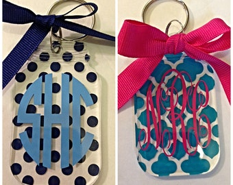 Monogrammed/Personalized Mason Jar Key Ring
