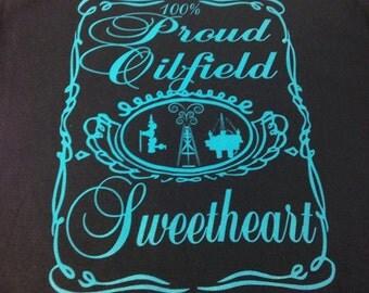 Proud Oilfield Sweetheart in Teal Ink