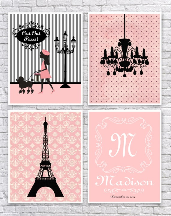 Girls Paris Bedroom Art French Girls Wall By