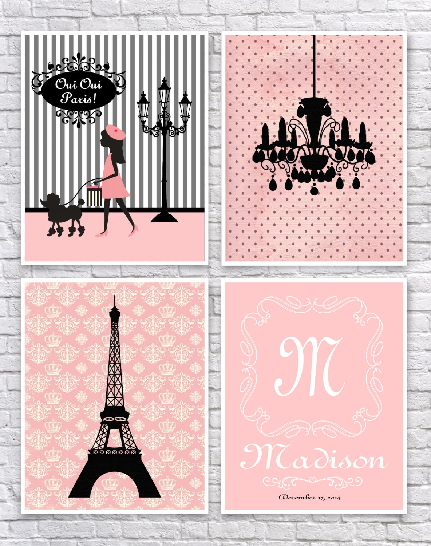 girls paris bedroom art french wall art paris nursery art. Black Bedroom Furniture Sets. Home Design Ideas