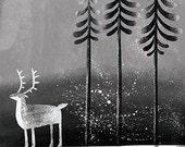 Reindeer // A4 art print