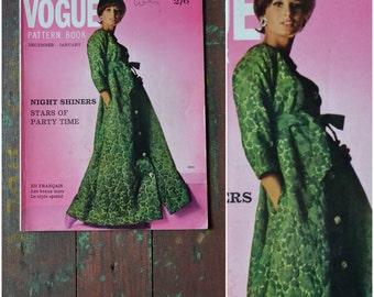 Vintage magazine, Vogue pattern book, December - January 1964, book 6, dressmaking pattern reference / craft publication, fashion history