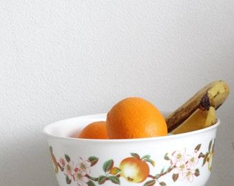 SALE Retro Arcopal Fruit Bowl and Fruit Plates