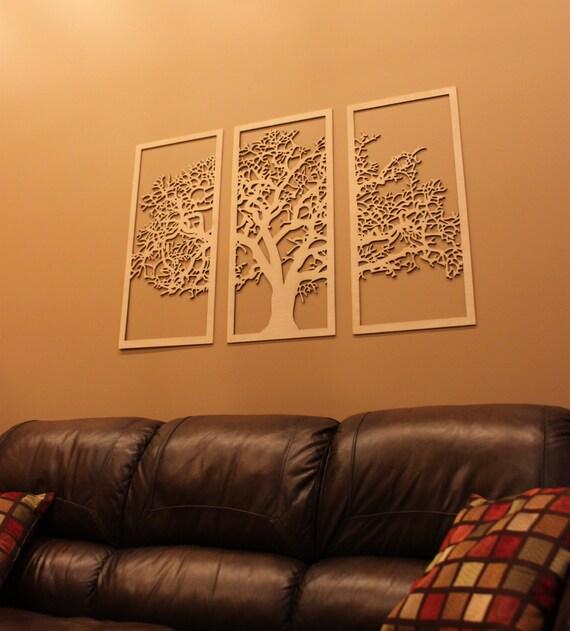 3 Panel Wooden Wall Hanging 3D Wall Art Beautiful Living