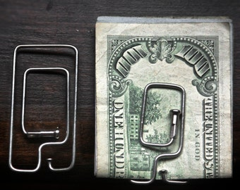 100% Recycled Bicycle Spoke Money Clip