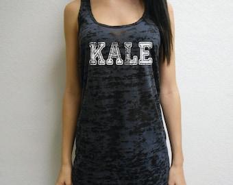 Kale Tank Top. Workout Tank Top Shirt. Cross Training Tank Top. Kale Tank. Womens Burnout Tank Top. Gym Tank. Kale Workout Tank.