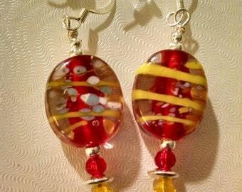 Multicolored Glass Bead Earrings Item No. 102