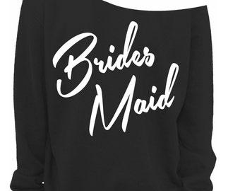 WEDDING GIFT - BRIDEMAID - Bridal Shower Gift - Wedding Gift - Slouchy Sweatshirt - Off The Shoulder - s, m, lg, xl, xxl, xxxl
