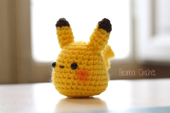 Tiny Amigurumi Doll : Pikachu tiny kawaii crochet amigurumi doll handmade