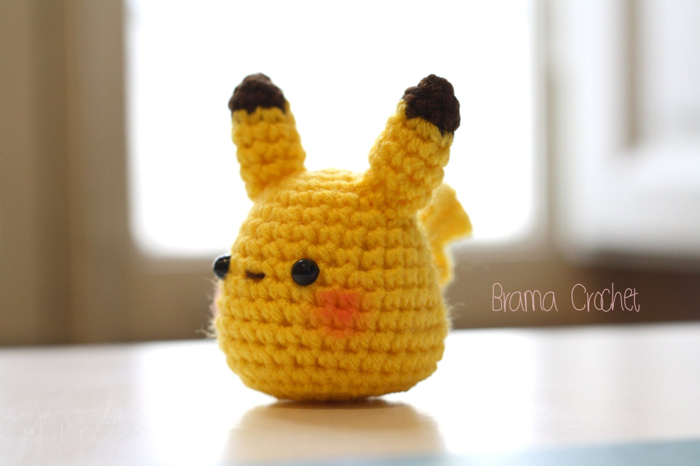 Pikachu En Amigurumi : Pequeno PIKACHU Kawaii amigurumi de ganchillo muneca