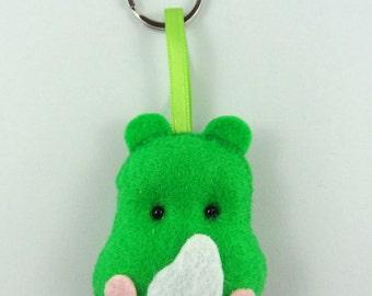 Felt Keychain. Felt Keyring. Felt Rhino Keychain. Rhino Keyring. Soft Felt Rhino. Ornament. Bag Charm.
