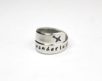 Wanderlust Wrap Ring, Wanderlust Jewelry, Travel, Wander And Adventure