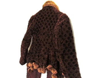 Antique EDWARDIAN Early 1900s Structured Fur Coat