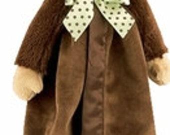 Personalized  Monkey Baby Security Blanket - Bearington Snuggler