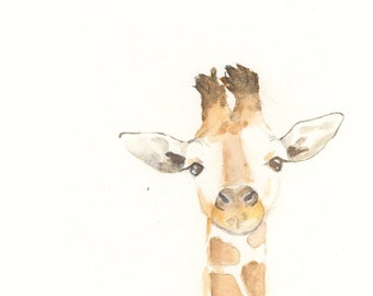 Giraffe Original Watercolor Archival Print