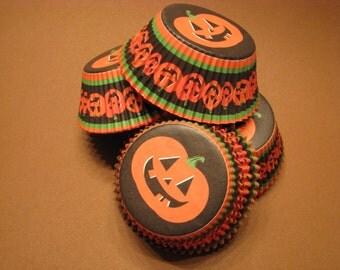 75 Premium Pumpkin Halloween Cupcake Wrappers/ Baking Cups/ Cupcake Liners