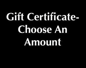 Gift Certificate - Choose An Amount - Dave Pollot Art, Thrift Art Parodies, Dave Pollot Gift Certificate