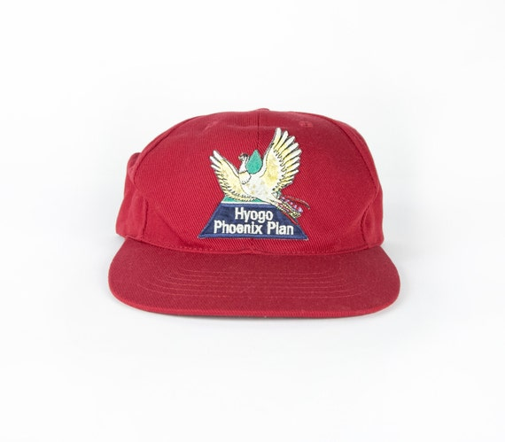 90s japanese baseball hat embroidered by