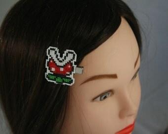 Super Mario Piranha Plant Hair Clip