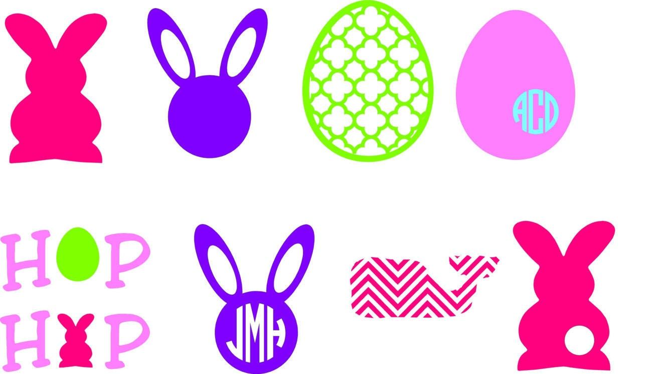 Spring monogram bunny monogram easter by nashsignsandgraphix