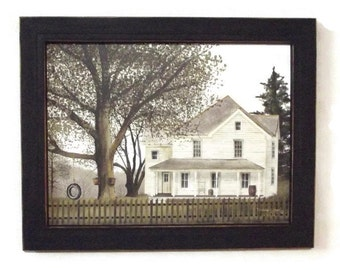 Grandma's House, Primitive Decor, Billy Jacobs Print, Art Print, Country Home Decor, Wall Hanging, Handmade, 19X15, Wood Frame, Made in USA