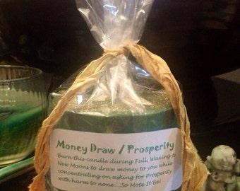 Money Draw / Prosperity Luna Candle - FAST MONEY