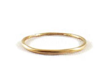 Solid 10k Gold, Simple Midi Ring, Stacking Ring, Yellow Gold, Rose Gold, White gold, first Knuckle Ring