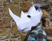 Rhino Mask - make your own animal mask using a simple digital download