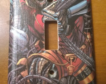 Deathlok comic book light switch cover