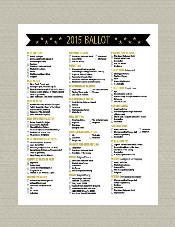 "Search Results for ""Academy Award Ballots 2015"" – Calendar 2015"