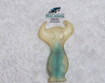 "Authentic movie artifact Devil charm made with ""It's a Mad, Mad, Mad, Mad World"" car glass"