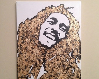 Bob Marley Painting (11x14) Pop Art, Reggae music, Jamaica, Rastafarian Art