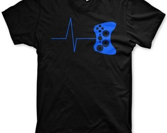 Gamer Heartbeat shirt funny gaming tshirts video game nerd tshirts gifts for gamers