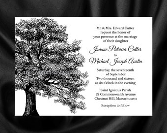 Wedding Invitation. Oak Tree Wedding Invitation U0026 RSVP. Oak Tree Invitation   Tree Design