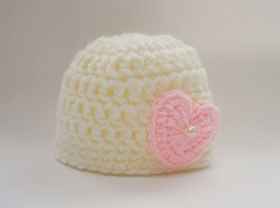 Crochet Valentine Hat : Valentines Crochet Baby Hat, Newborn Girl Hat, Newborn Girl Photo Prop ...