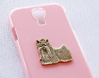 Yorkie Pretty Pink iPhone 7 Plastic Hardshell iPhone 6s Plus Cover with Gold iPhone 6 Case iPhone 7 Case iPhone 7 Plus Case