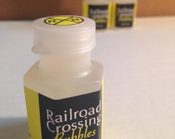 8-pack Railroad Crossing Mini Bubbles - Transportation or Car Party Favor