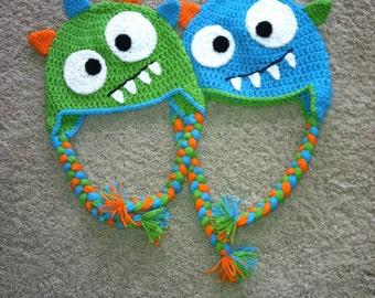 SALE!! Crocheted Monster Hat
