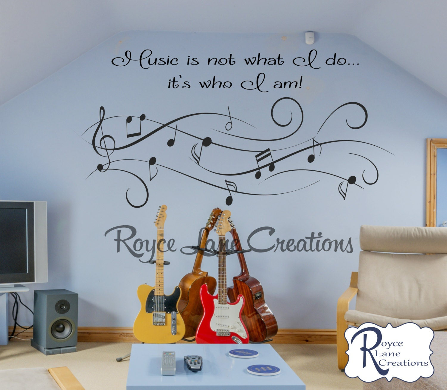 Music Wall Decal Music Is Not What I Do...itu0027s Who I Am Music Art Vinyl Music  Wall Decal  Music Decor