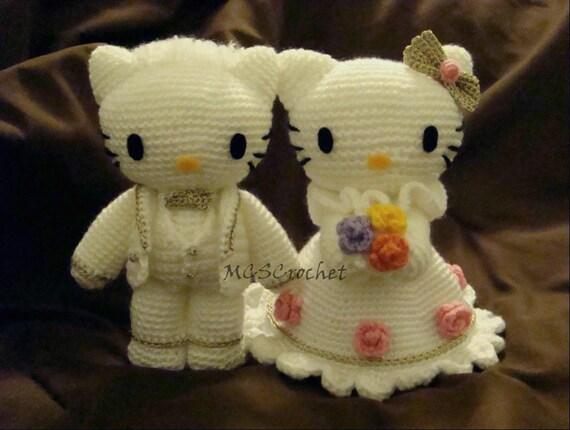 Hello Kitty Wedding Gift: Hello Kitty&Dear Daniel Amigurumi Wedding Dollcouple By
