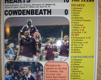 Hearts 10 Cowdenbeath 0 - 2015 - souvenir print