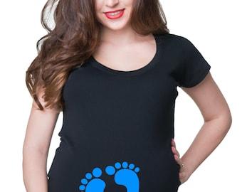 What's Kickin' Maternity T Shirt Funny Pregnancy Shirt Pregnant Tees T Shirt For Pregnancy Tee