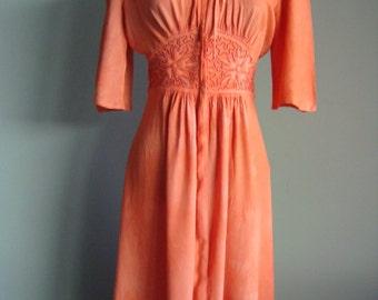 Vintage 1940's Theatre Crepe Day Dress