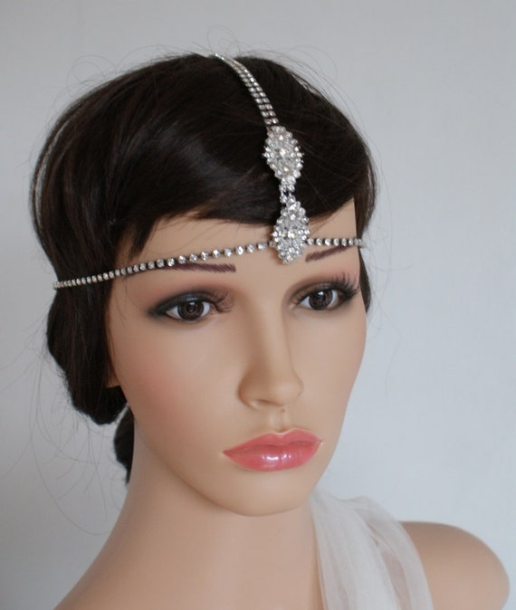 Indian Wedding Headpieces: Items Similar To Boho Bridal Headpiece, Forehead Band Hair